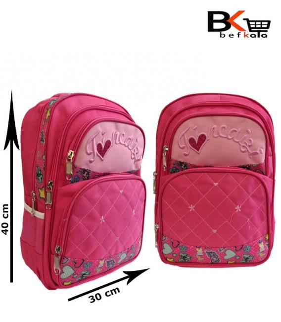 کیف مدرسه ای دخترانه گلدوزی شده مقطع ابتدایی