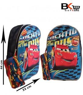 کیف مدرسه ای پسرانه دوتیکه عکس دار با طرح استیو مکوئین مقطع ابتدایی