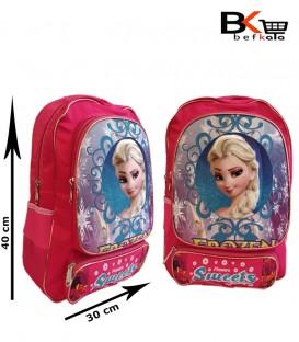 کیف مدرسه ای دخترانه جامدادی دار با طرح پرنسس مقطع ابتدایی