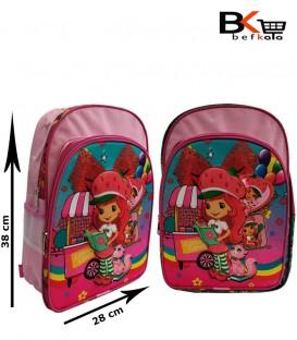 کیف مدرسه ای دخترانه طرح برجسته ابری توت فرنگی مقطع ابتدایی