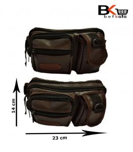 کیف کمری مردانه ۵ زیپه به همراه جای موبایل