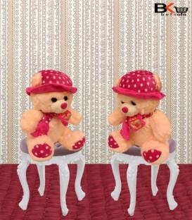 خرس عروسکی کلاه توپ توپی سایز کوچک