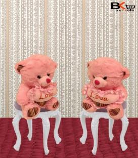 خرس عروسکی قلب دار صورتی
