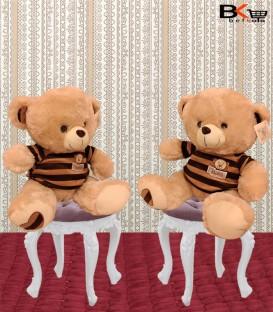 خرس عروسکی لباس راه راه کرمی