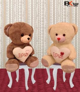 خرس عروسکی قهوه ای قلب دار