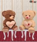 خرس عروسکی قلب دار لاو سایز متوسط