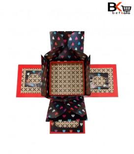 باکس کادویی مربعی سورپرایز قرمز