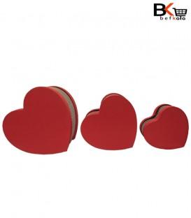 باکس کادویی قلبی طلقی قرمز