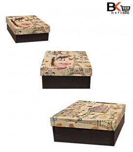 باکس کادویی مربعی طرح برج ایفل