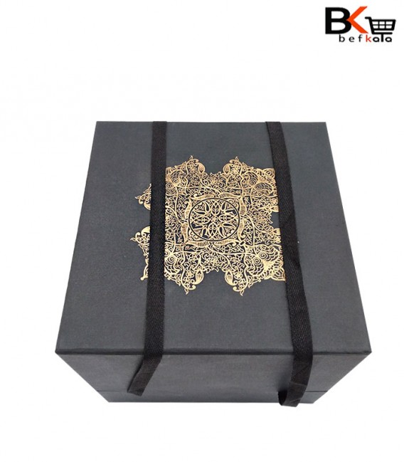 باکس کادویی مکعب مربعی طلاکوب