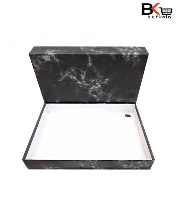 باکس کادویی مستطیلی طرح سنگ مرمر سایز بزرگ
