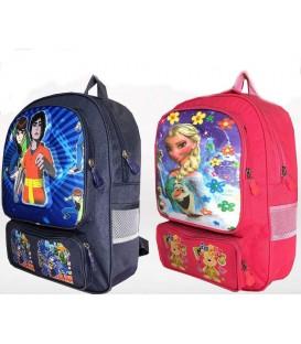 کیف مدرسه اى بزرگ جامدادى دار