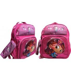 کیف مدرسه اى دخترانه دو تیکه طرح برجسته