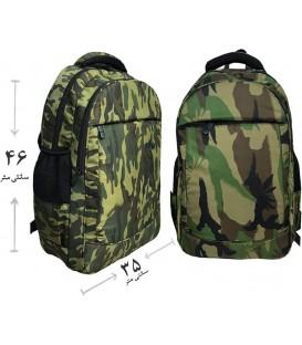 کیف کوله لپ تاپی طرح ارتشی 4 زیپه