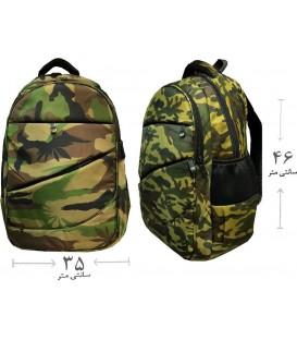 کیف کوله لپ تاپی ارتشی زیپ مخفی