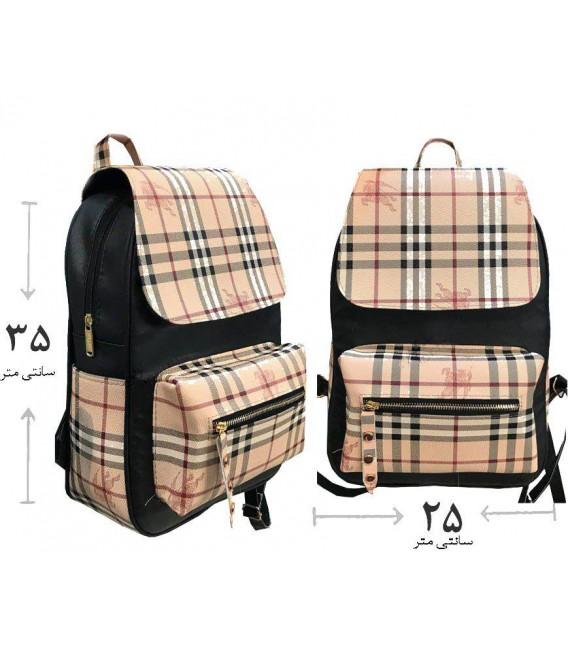 کیف کوله دخترانه چهارخونه