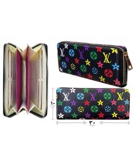 کیف پول دستی زنانه مشکی LV رنگی