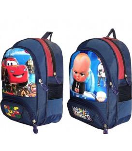 کیف مدرسه ای بزرگ طرح دار