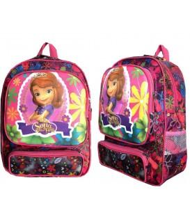 کیف مدرسه اى دخترانه طرح دار 3 زیپه