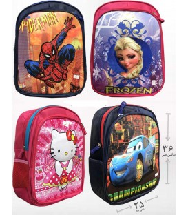 کیف مدرسه اى چاپ بزرگ 2 زيپ