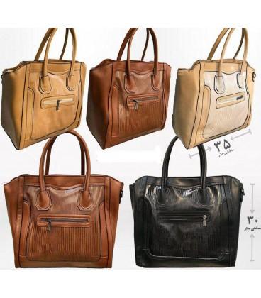 کیف دستی زنانه بزرگ مرغوب طرح چرم |
