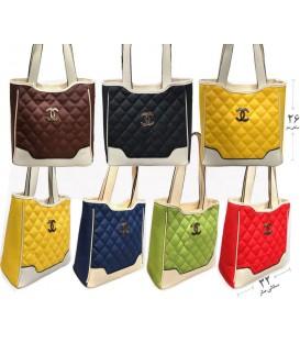کیف دستی زنانه شنل رنگی دوخت برجسته