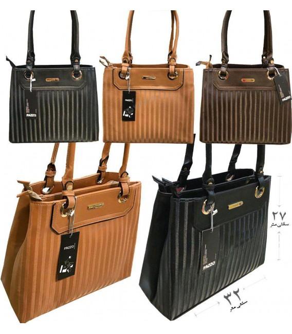 کیف دستی زنانه 2 زیپه جنس خارجی