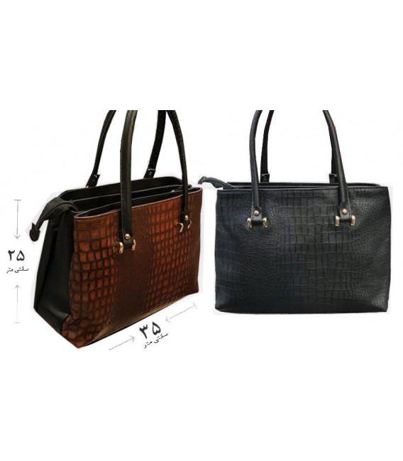 کیف دستی زنانه 3 زیپه سنگی