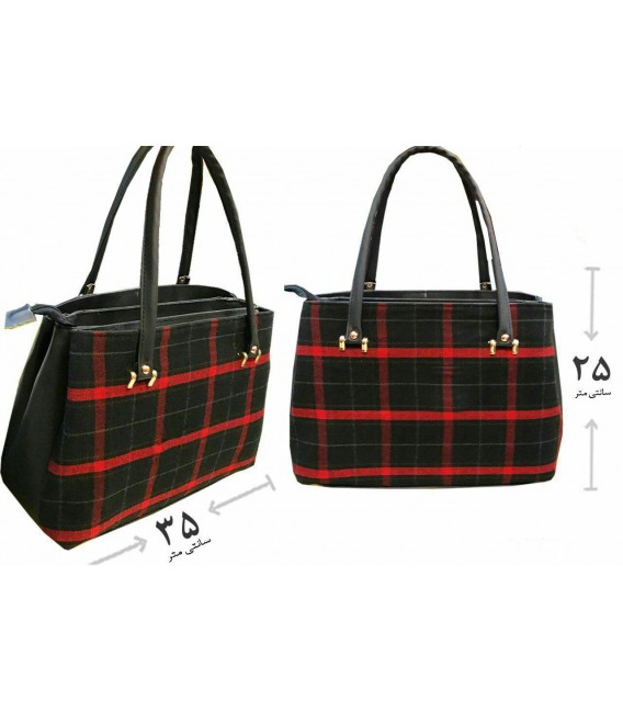 کیف دستی زنانه ۴خونه قرمز مشکی