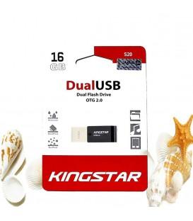 فلش مموری 16 گیگابایت کینگ استار مدل DualUSB 2.0 OTG S20