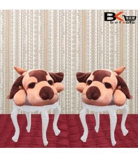 سگ عروسکی رو داشبوردی چشم درشت مخملی