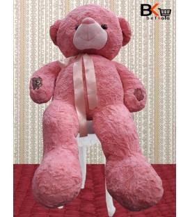 خرس عروسکی ربان دار سایز بزرگ صورتی
