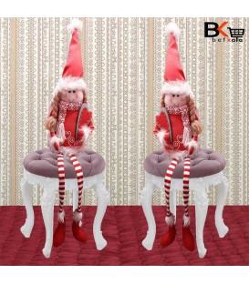 آدم برفی عروسکی کریسمس مدل نشسته