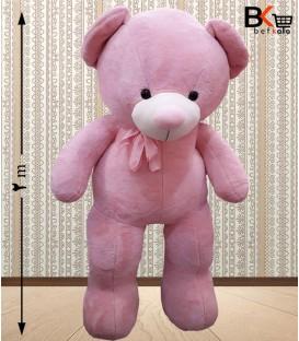 خرس عروسکی سایز خیلی بزرگ ربان دار صورتی