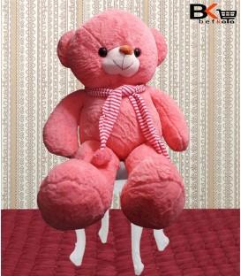 خرس شالگردن دار عروسکی صورتی
