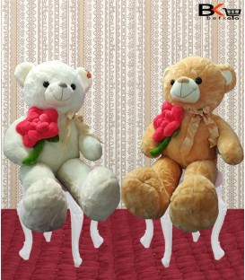 خرس عروسکی گل بزرگ پاپیون دار