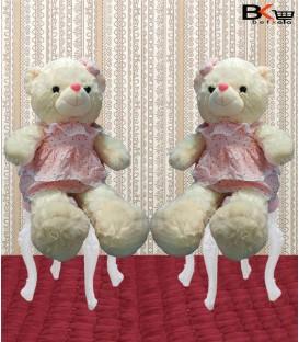 خرس عروسکی لباس گلدار