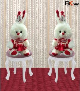 خرگوش عروسکی لباس قرمز I love you