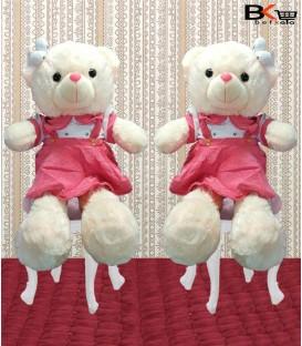 خرس عروسکی لباسدار صورتی