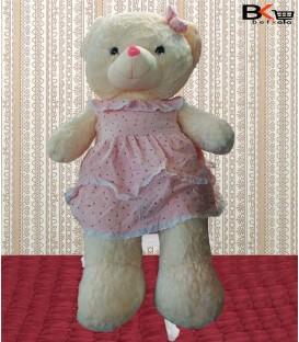 خرس عروسکی لباس خالدار