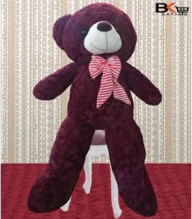 خرس عروسکی پاپیون بزرگ زرشکی