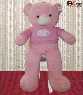 خرس عروسکی لباس بافتنی صورتی