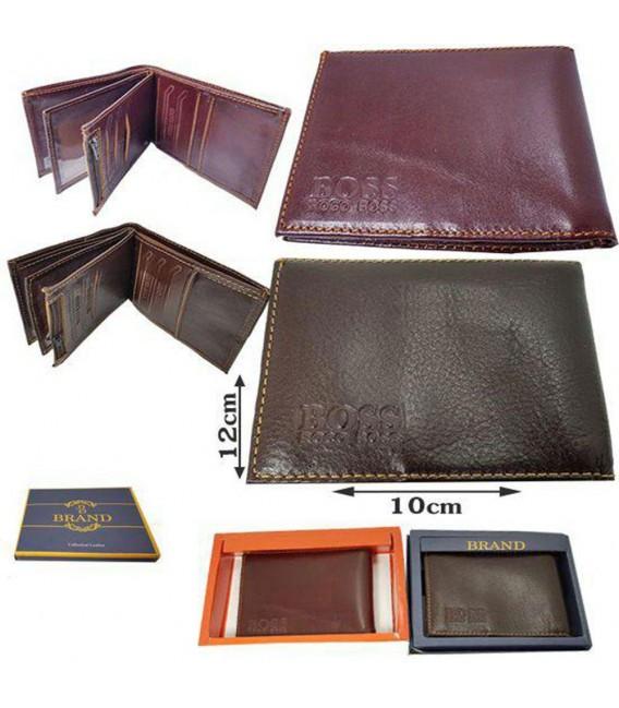 کیف پول چرمی جیبی تاشو مردانه برند BOSS
