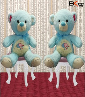 خرس عروسکی آبی پاپیون دار