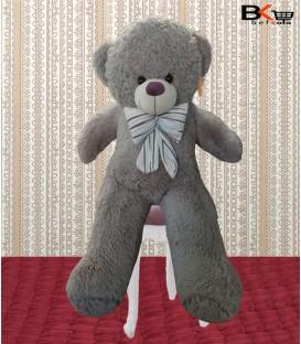 خرس عروسکی خیلی بزرگ پرز بلند پاپیون دار