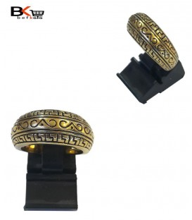 انگشتر شوپینگ زنانه طلایی حکاکی شده