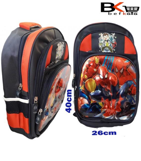 کیف مدرسه ای پسرانه طرح برجسته شیشه ای مرد عنکبوتی مقطع ابتدایی