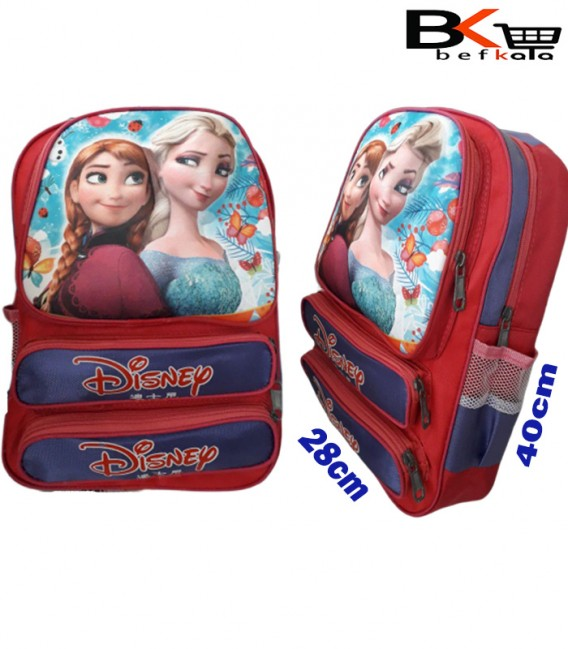 کیف مدرسه ای دخترانه طرح پرنسس برجسته ابری جامدادی دار مقطع ابتدایی