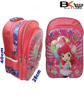 کیف مدرسه ای دخترانه طرح دخترک برجسته شیشه ای مقطع ابتدایی