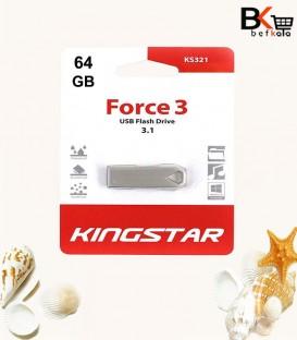 فلش مموری 64 گیگابایت کینگ استار مدل Force 3 KS321